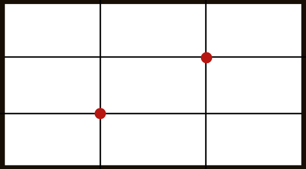 Design composition 3 - Grid of rule of thirds.