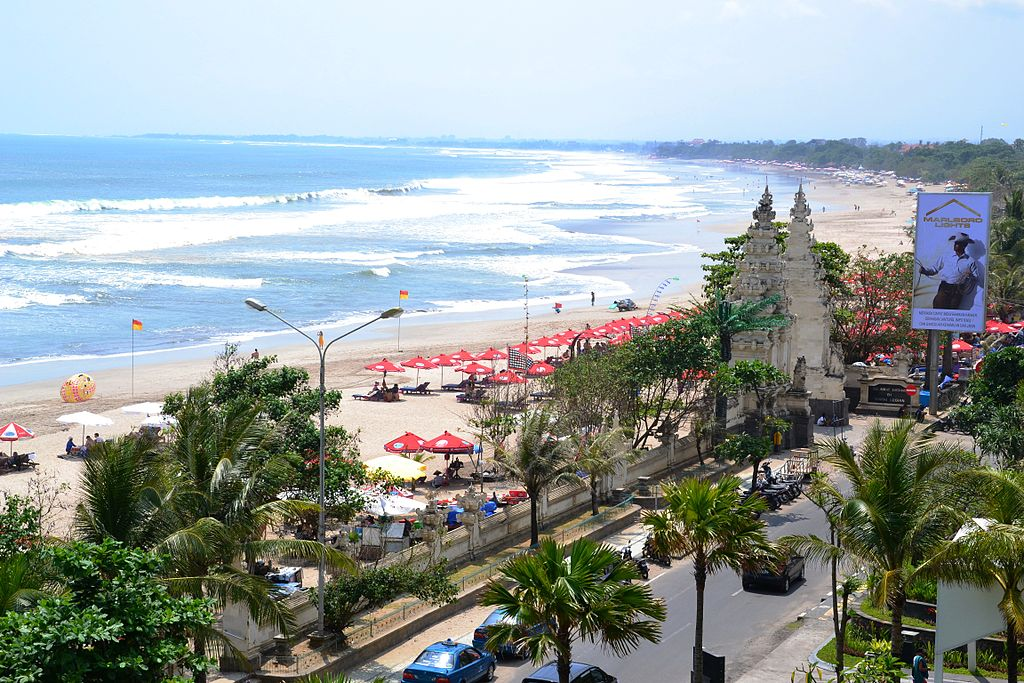 Kuta Beach is a renowned beach in Kuta, Bali
