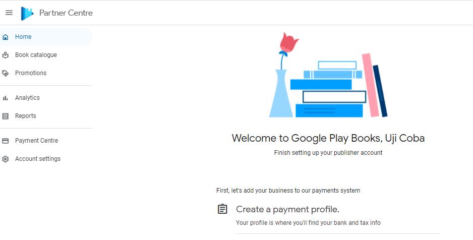 dashboard google play book