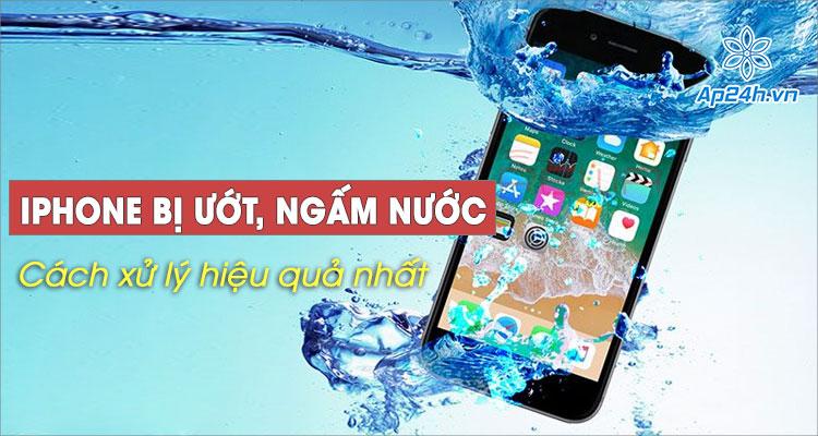 Bạn có biết cách xử lý nhanh iPhone bị ướt, ngấm nước hiệu quả?
