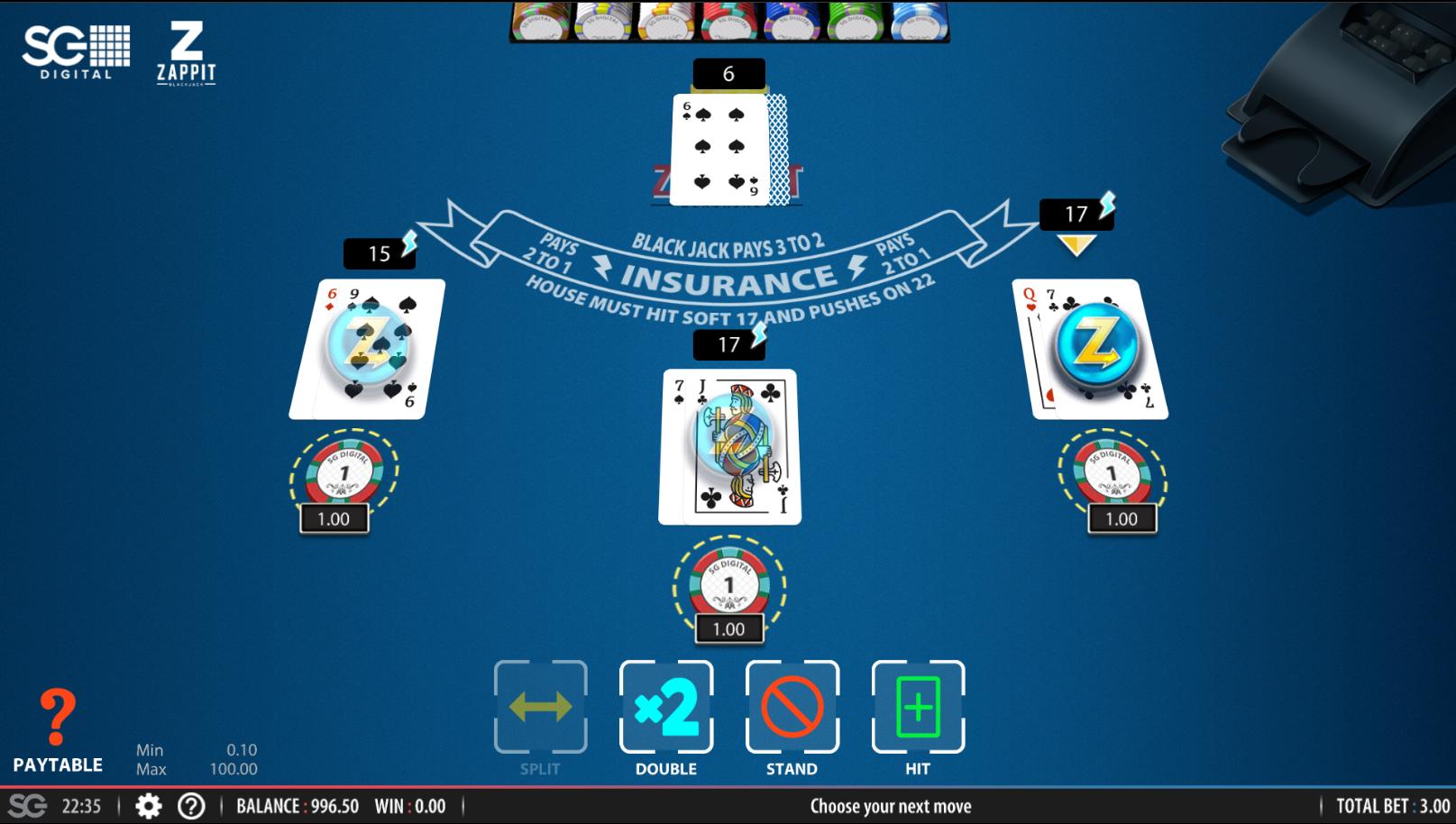 SugarHouse Online Blackjack