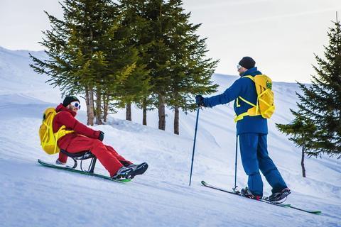 randonnée à ski famille snooc