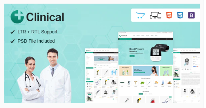 Medical opencart theme
