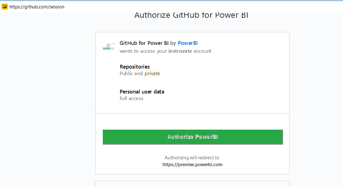 Connecting PowerBI to Github - Step by Step 34