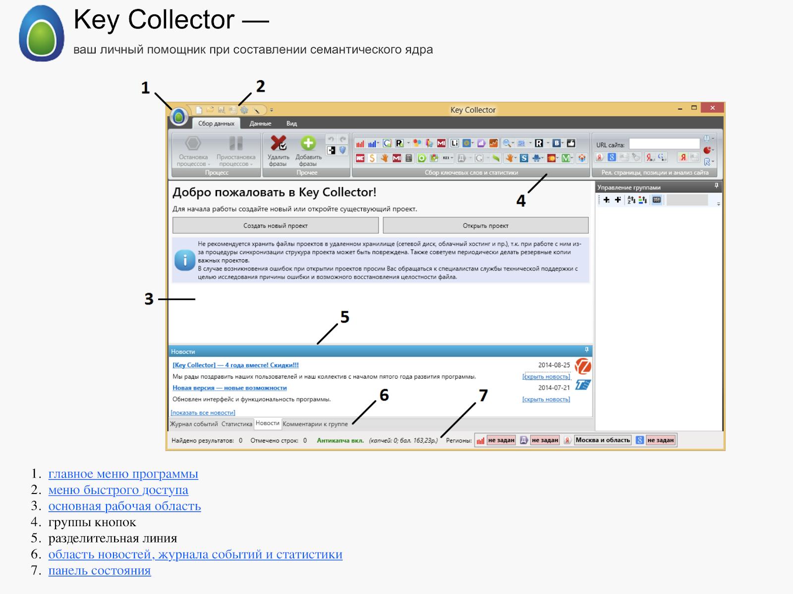 Key Collector позволяет снять позиции сайта и оценить СЯ