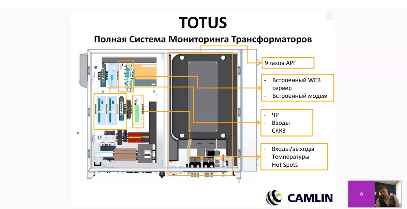 Вебинар о системе мониторинга растворенных газов Totus G9