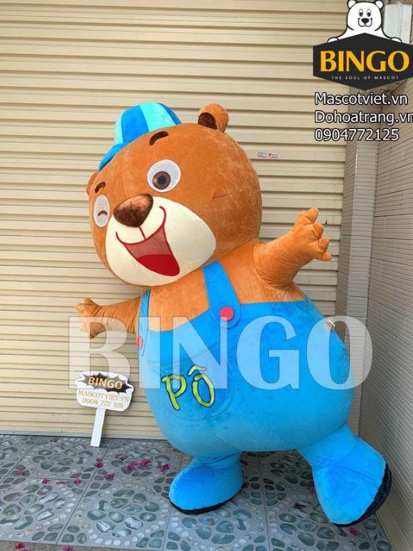 Mascot hơi Gấu Pô 01