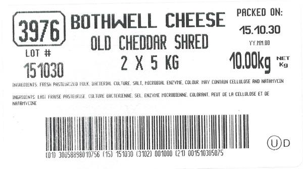 Old Cheddar Shred - 10 kg (2 x 5 kg)