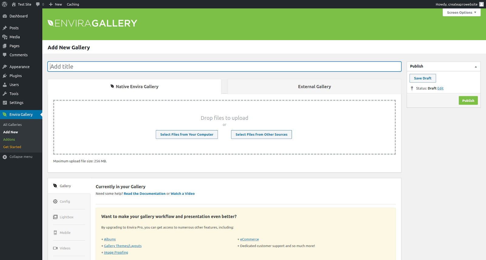 envira gallery wordpress gallery plugin features