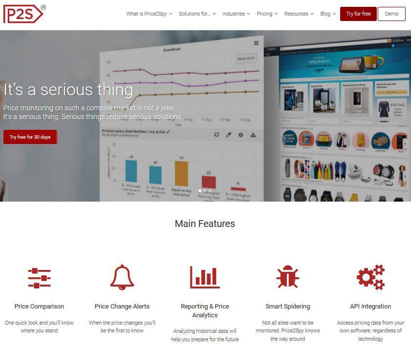 Сервис Price2Spy для мониторинга цен