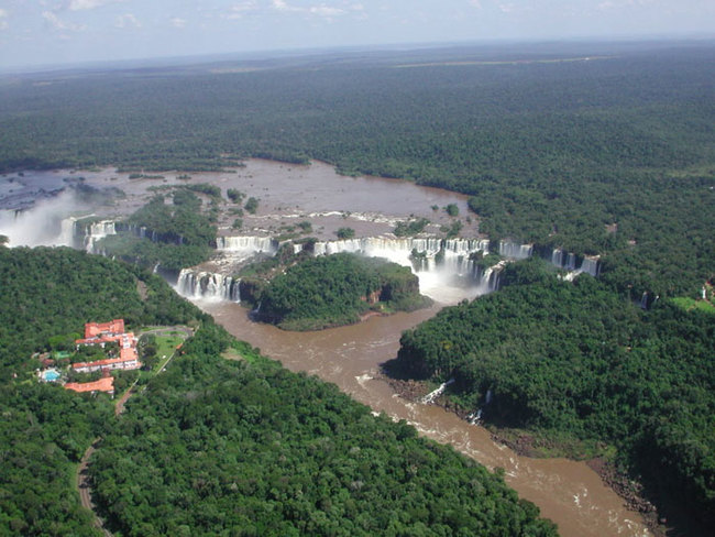 7) Argentina and Brazil - The Iguazu Falls are waterfalls in the Iguazu River on the border of the Brazilian state of Paraná and the Argentine province of Misiones