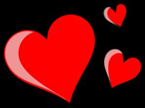 Three hearts clipart