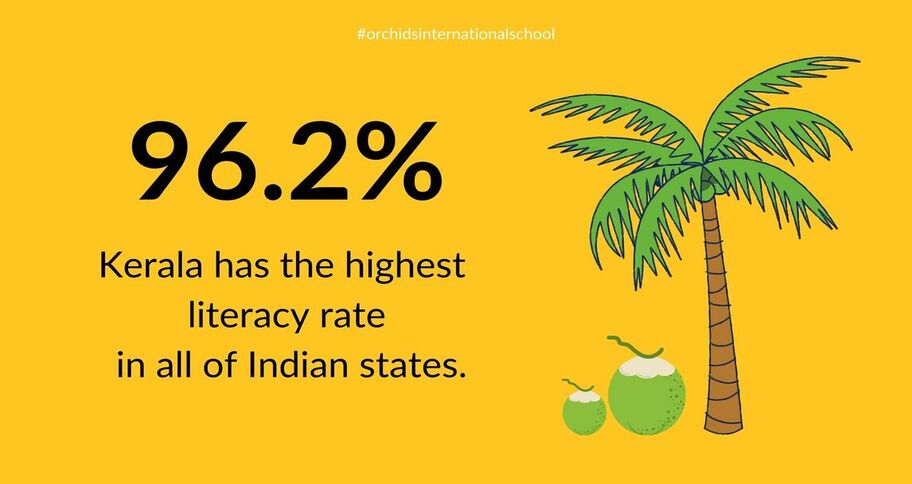 reading books led to the increase in Kerala's literacy rate to 96.2%