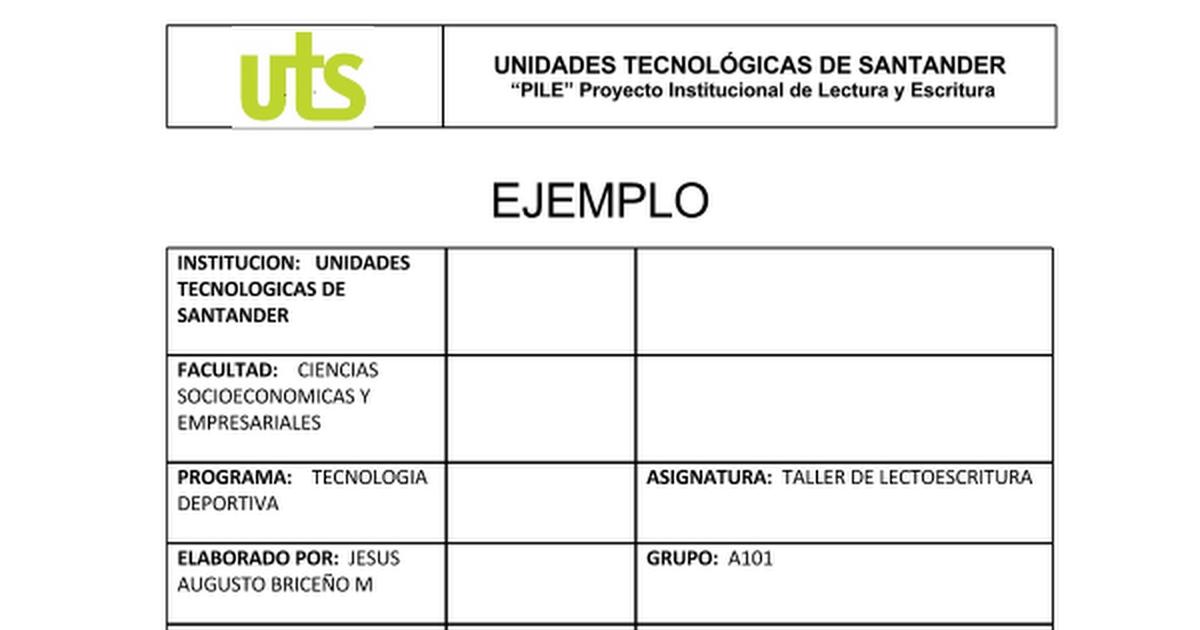 FORMATO CON EJEMPLO DE INFORME DE LECTURA (1).docx - Google Docs