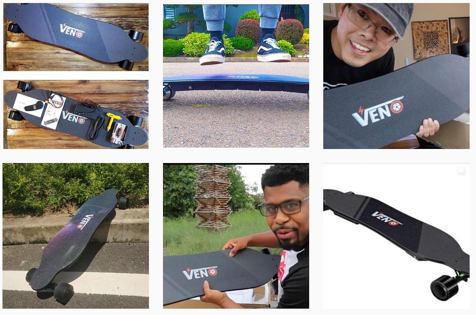 Venoboard - Promotional images on social media
