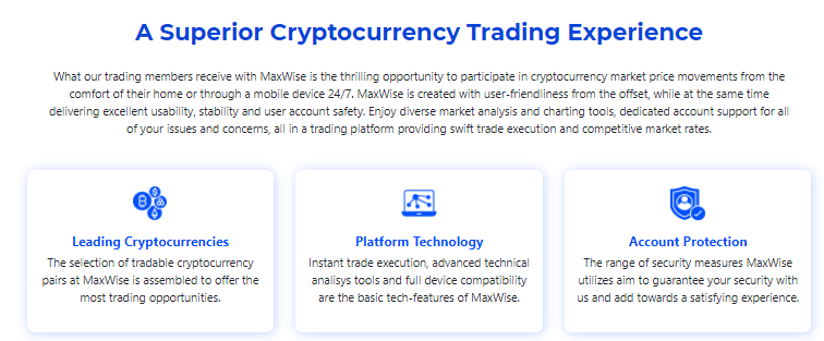 Maxwise trading platform features