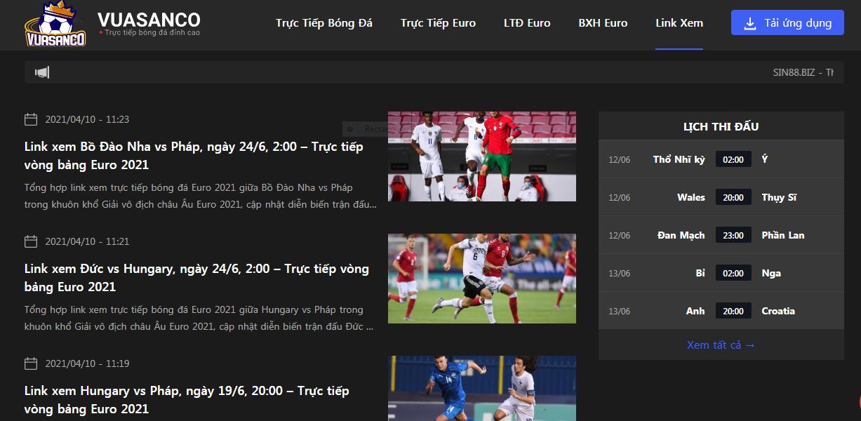 Vuasanco cung cấp link xem bóng đá chất lượng nhất hiện nay