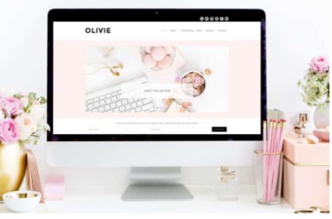Olivie-WordPress Themes Pink & White