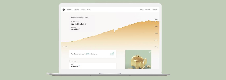 L'écran de bienvenue de Wealthsimple