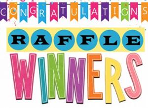 Congratulations raffle winners