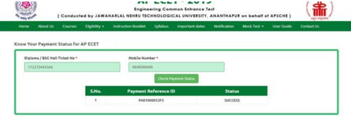 Check AP ECET Application Form 2021 Payment Status