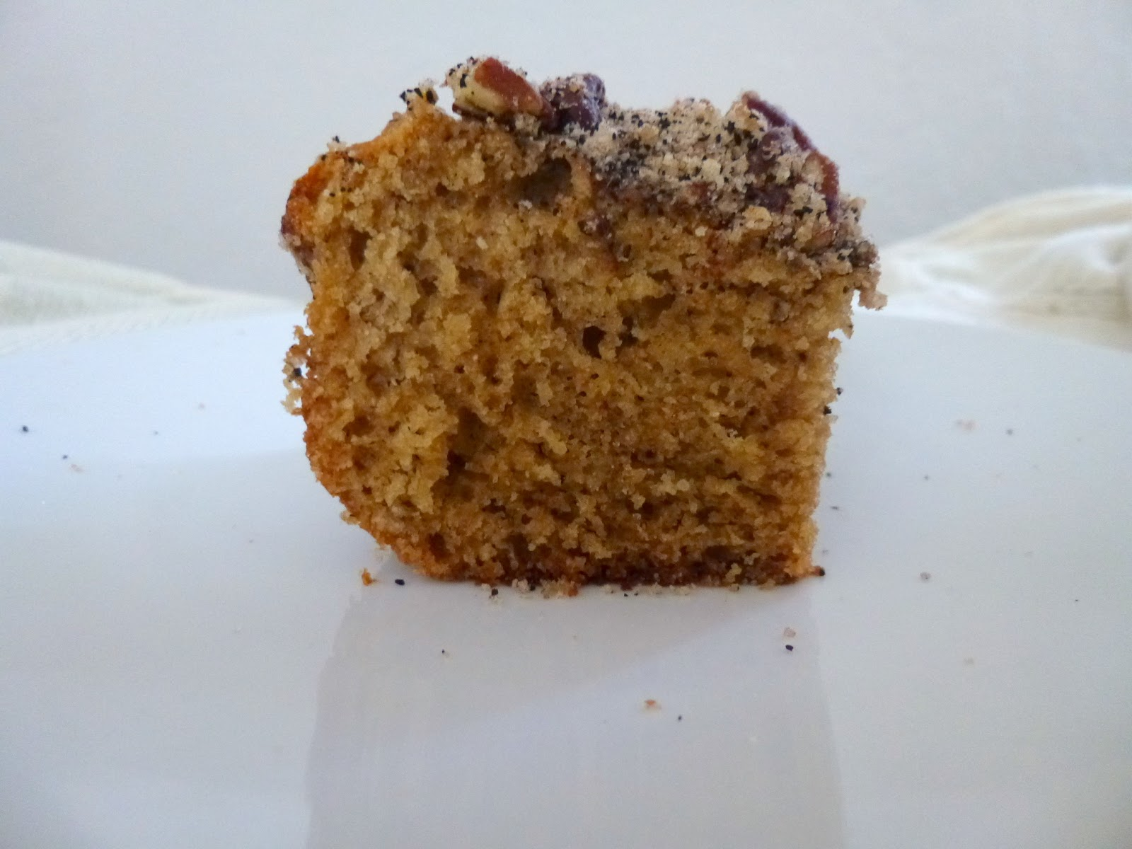 moist, espresso-flavored coffee cake with a pecan chocolate streusel