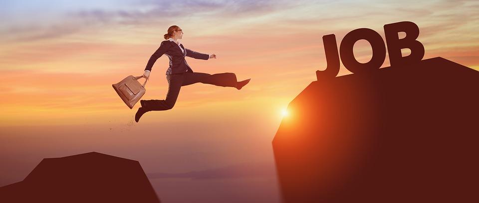 成功, ビジネス女性, キャリア, ジャンプ, リスク, 達する, 仕事, 飛躍, ビジネス, コンセプト
