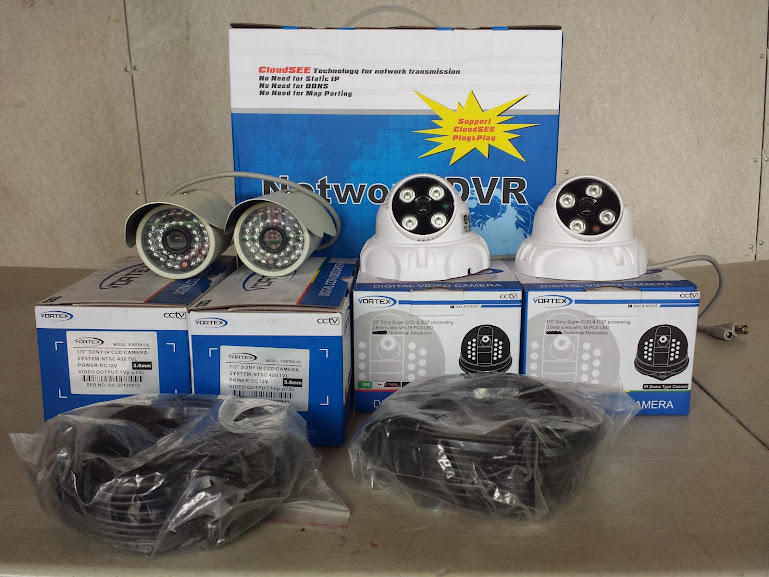 Cctv Package 8channel dvr, 6cameras with installation and