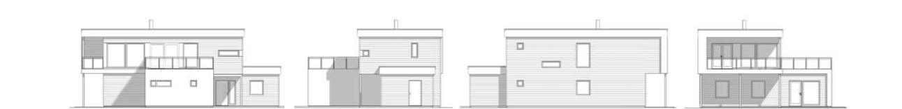 illustrasjon av funkishus, bygg med våre byggmestere i Haugesund