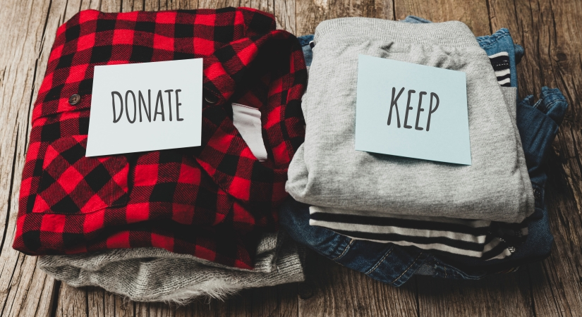 Decluttering and downsizing your wardrobe before starting your closet organization can be a big help.