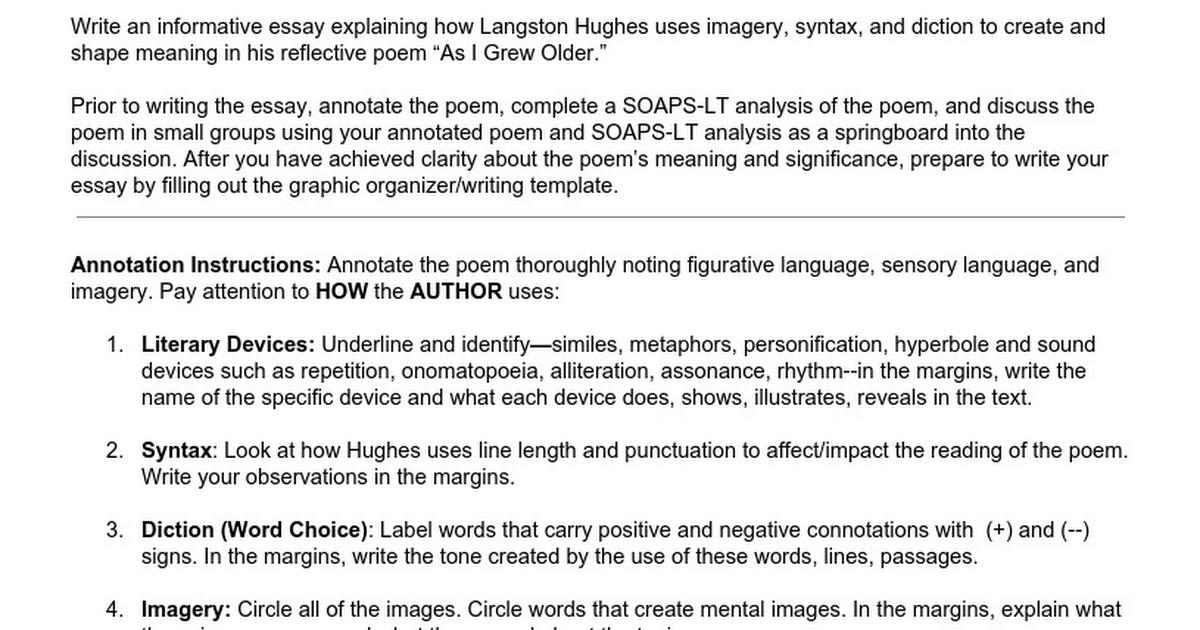 module culminating task student handout google docs