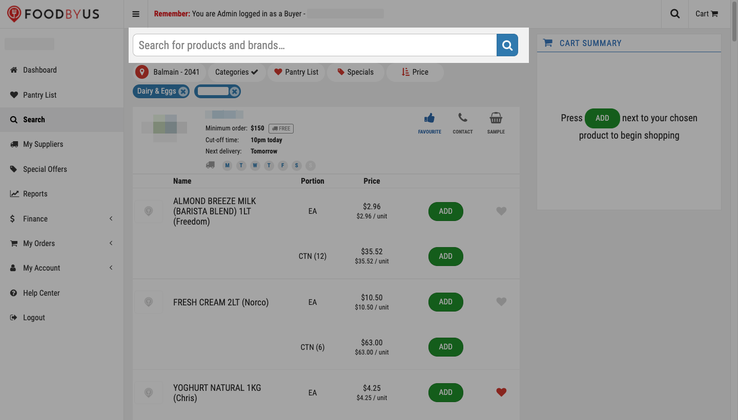 FoodByUs_dashboard_search_marketplace_dairy_and_eggs_search_for_items