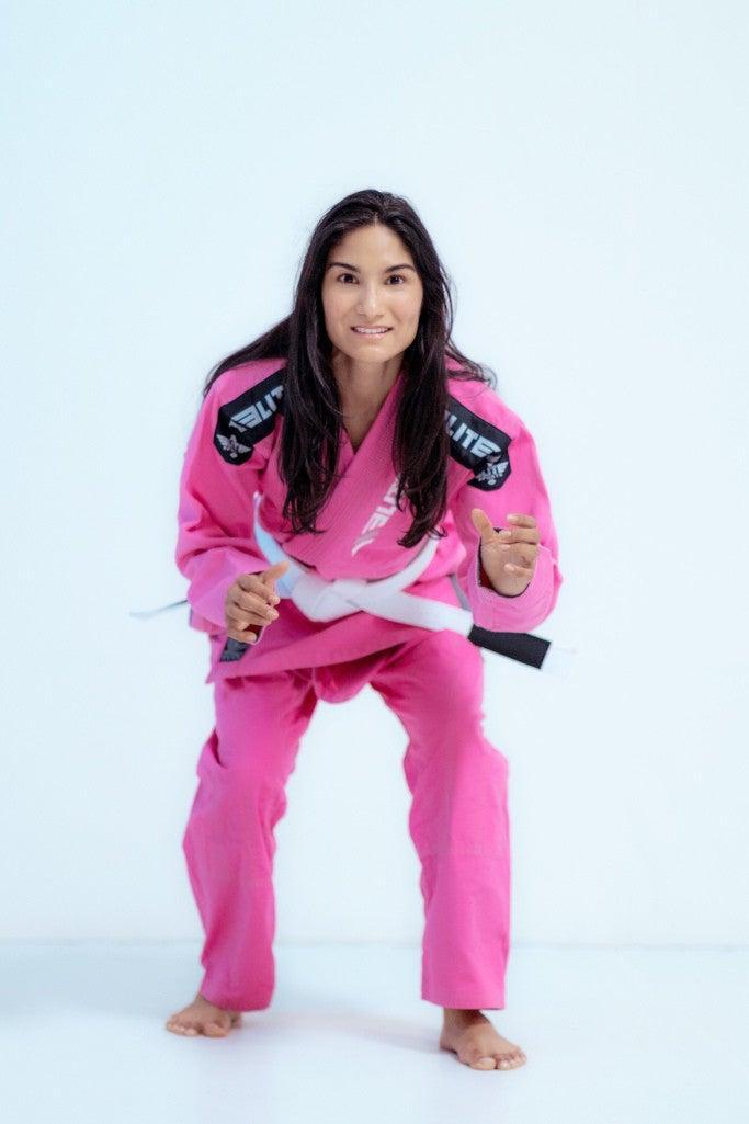 Ultra Light Preshrunk Brazilian Jiu Jitsu BJJ Gi in Pink Color for Adults by Elite Sports