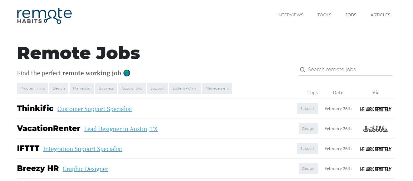 Remote Habits Jobs - Remote Jobs Board
