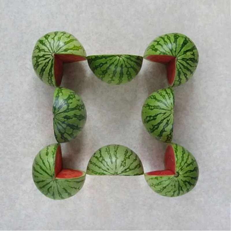 Riddle counting halved and quartered watermelons