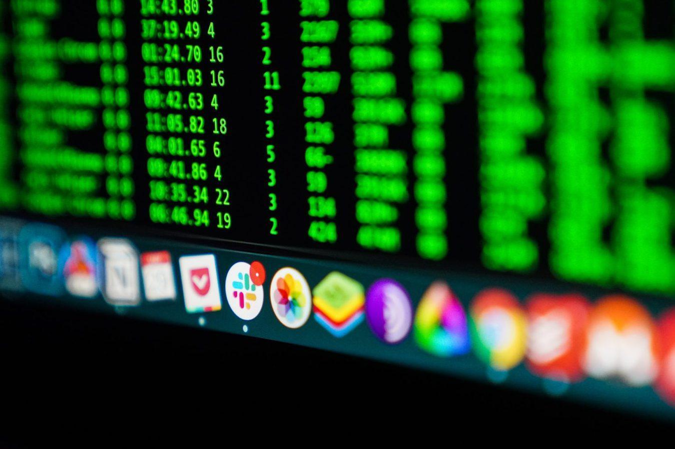 Desktop screen application icons - software