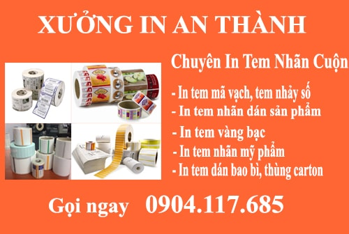 in tem nhan decal cuon gia re tai ha noi