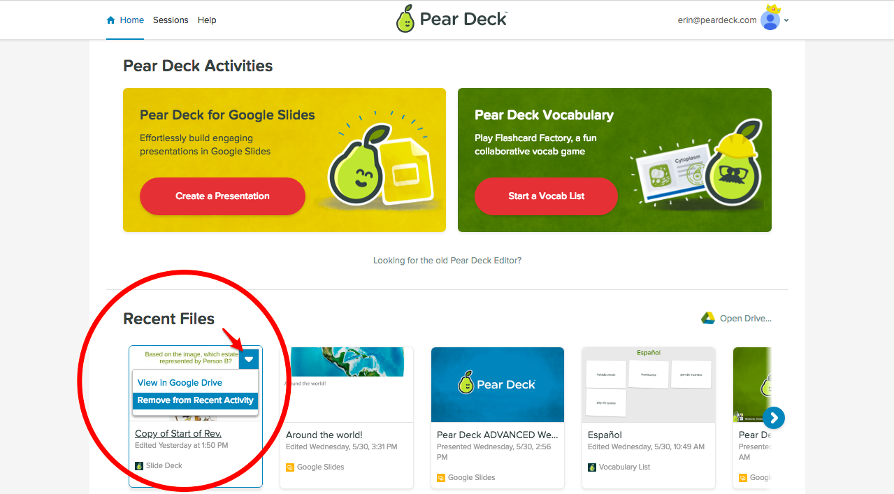 Can I Delete a Presentation? - Pear Deck Knowledge Base