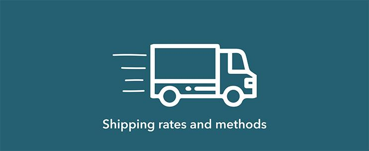 shipping rates and method banner
