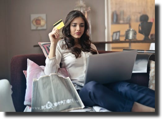 woman with the credit card increase online sales