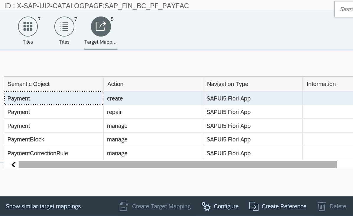 SAP Fiori Launchpad Designer - Target Mappings