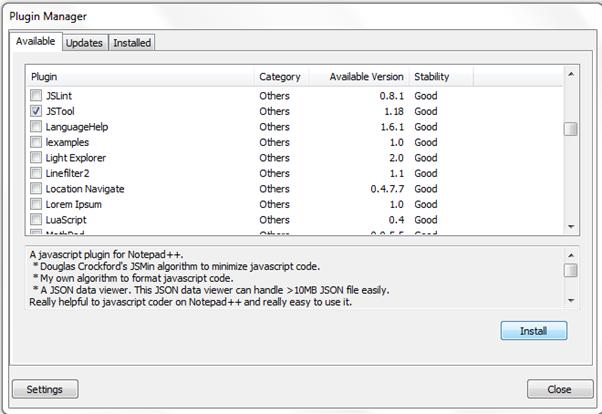 json file reader for windows 7