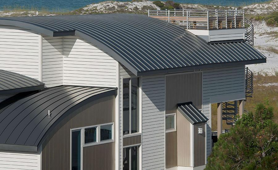 Mái tôn vòm giúp nâng cao giá trị thẩm mỹ cho công trình