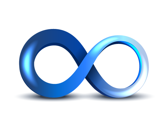 Infinity Symbol on white background
