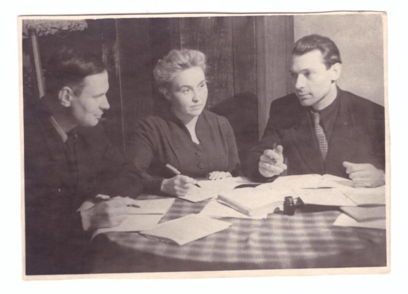 Е.В. Иванова среди студентов Всесоюзного заочного политехнического института