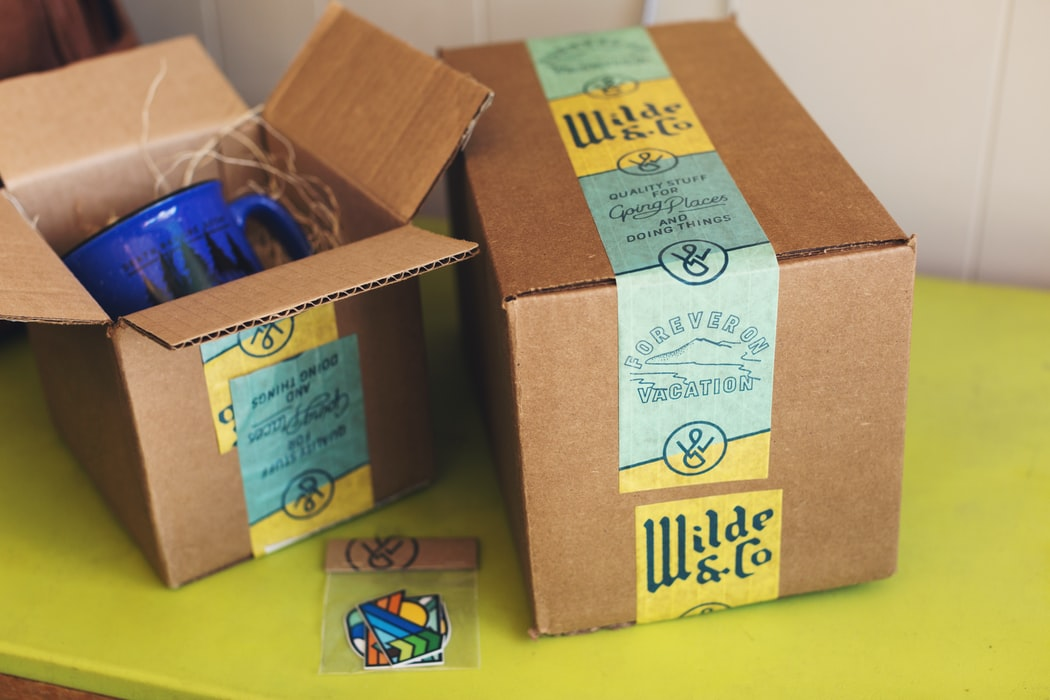 boxes with products