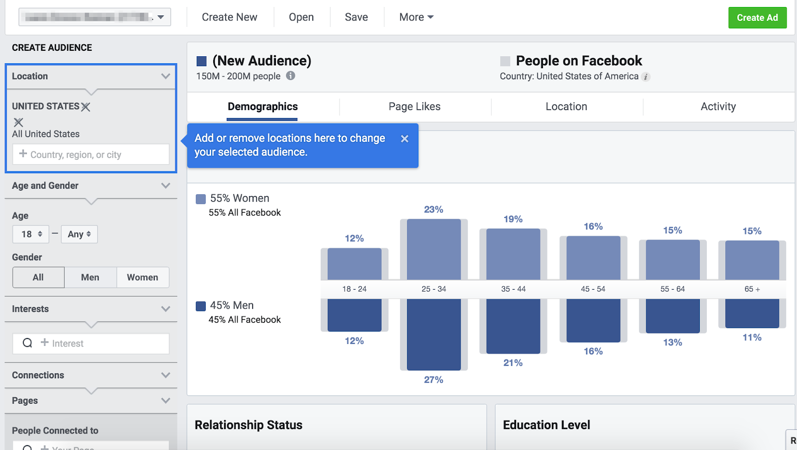 defining audience demographics in Audience Insights