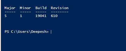 check your installed powershell version by using this command