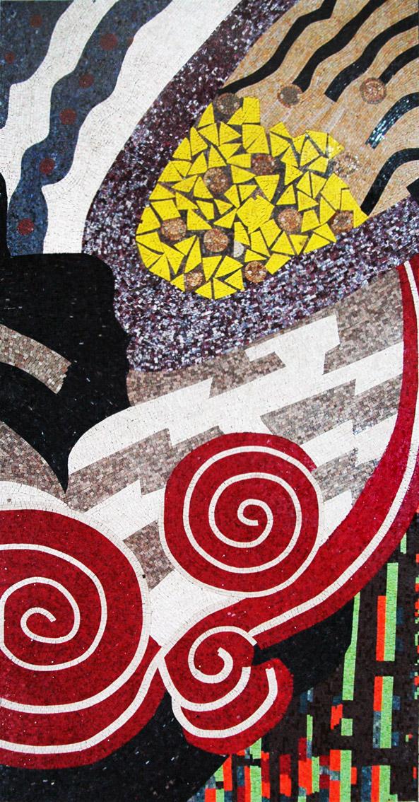 Vigorous Formation - Modern Mosaic Art by Mozaico