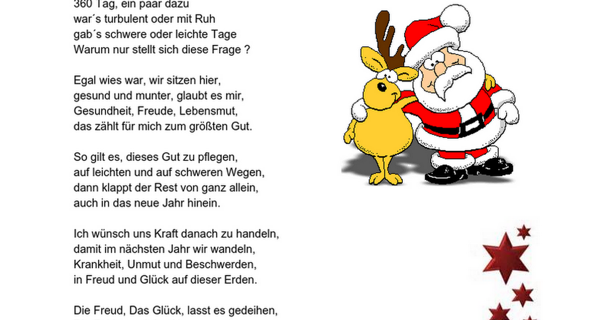 Weihnacht und Neujahr